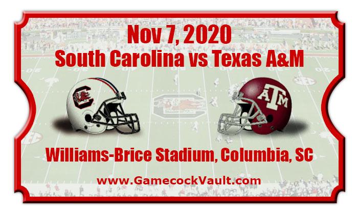 South Carolina Gamecocks vs Texas A&M Aggies Football ...